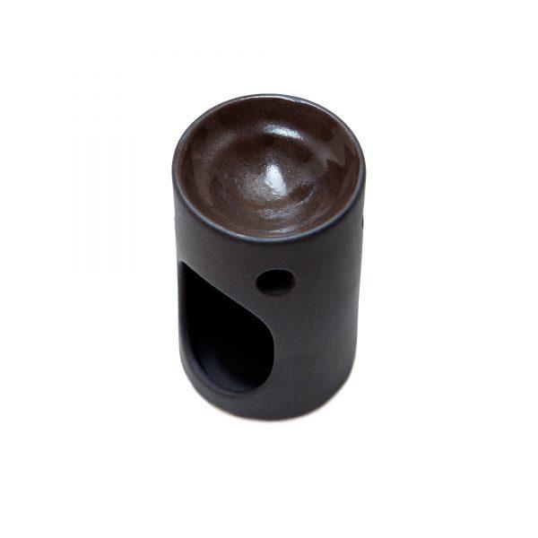 small ceramic matt black burner
